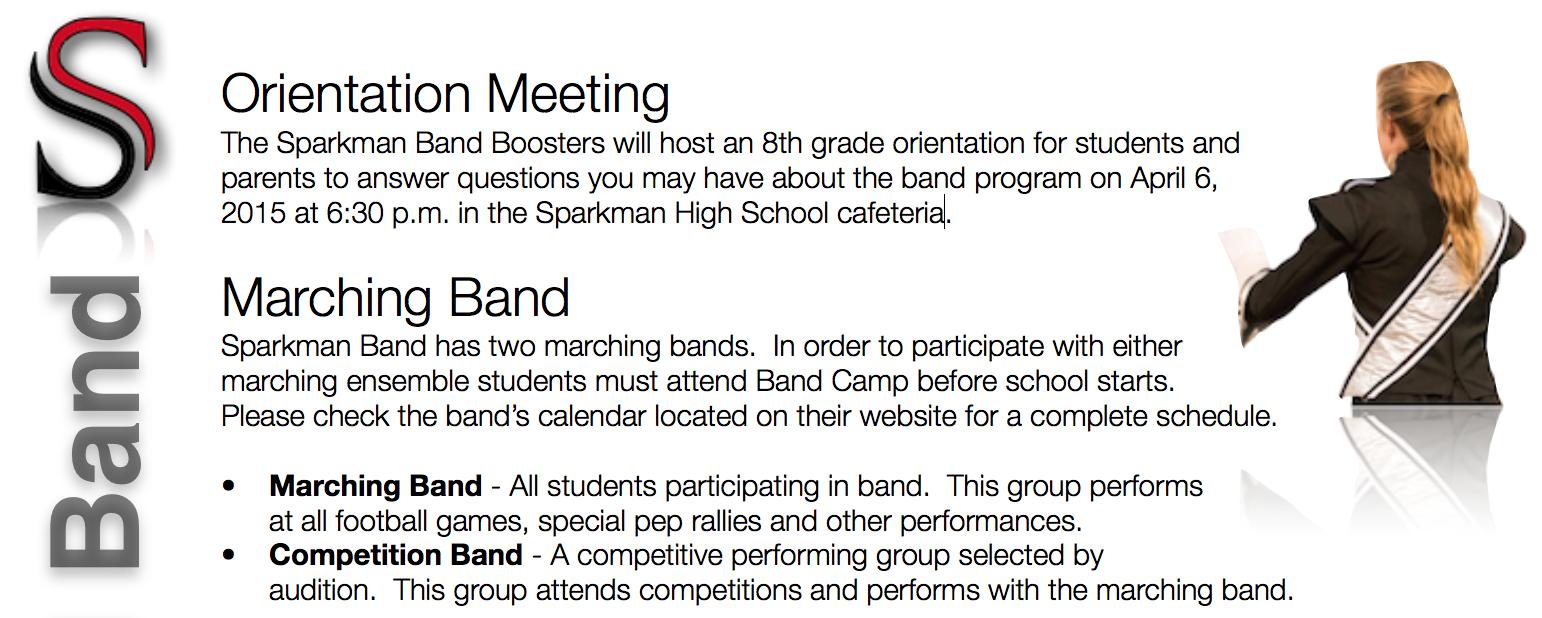 8th Grader Orientation Meeting