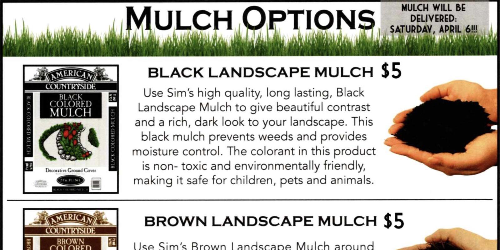 Sim's Mulch Fundraiser